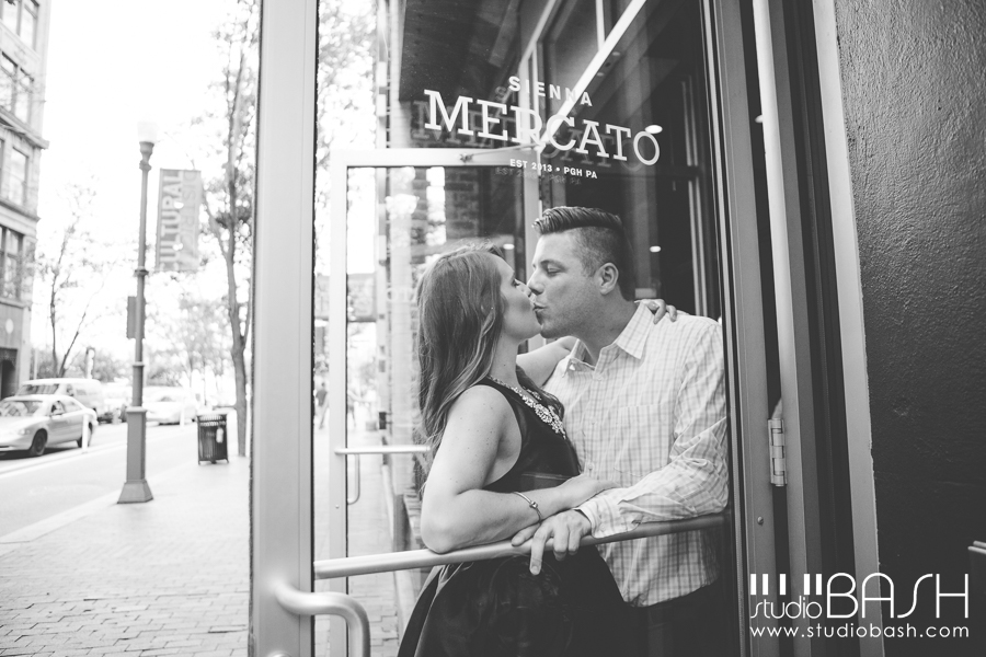 Pittsburgh Downtown Engagement | Rachel + Jason